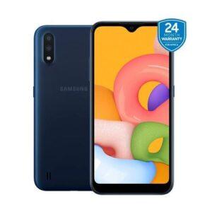 Samsung Galaxy A01, 5.7-inch, 16GB + 2GB RAM (SINGLE SIM), BLUE