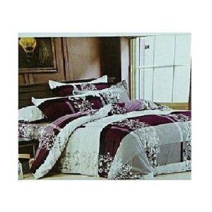 4 Pieces Bedding set-1 Cotton Duvet set, a bed sheet and 2 pillow cases