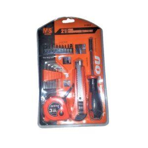 21 Pcs Screw Heads, Allen Keys, Tape Measure, Knife Repair Tool Set