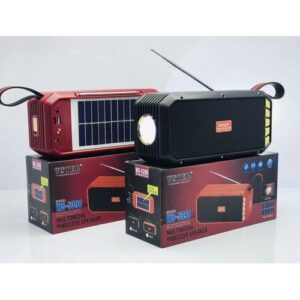 Wster Solar Rechargeable Wireless Speaker With Torch