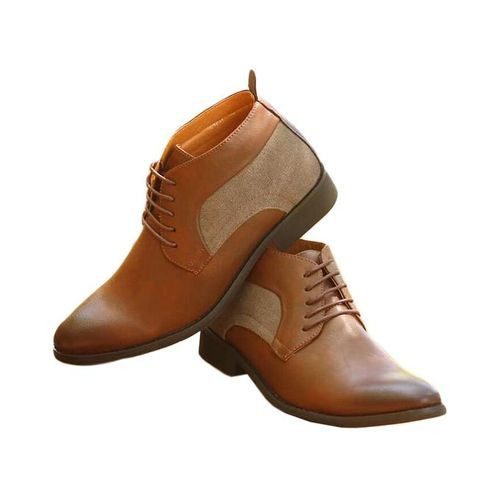Cacatua Brown Men's Leather Boots Shoes
