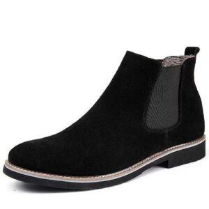 Men's Suede Boot Shoes- Black