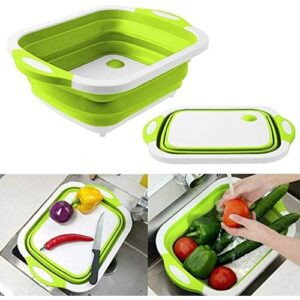 Foldable Chopping Board, Food Storage And Dish Tub Basin