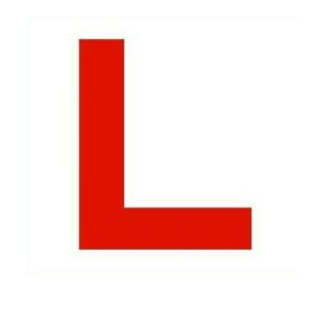 L Plate Label Vehicle Car Learner Stickers