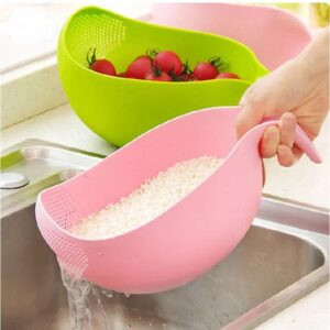Rice And Fruits Washing Bowl Strainer