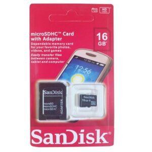 Sandisk 16GB Memory Card With SD Adapter