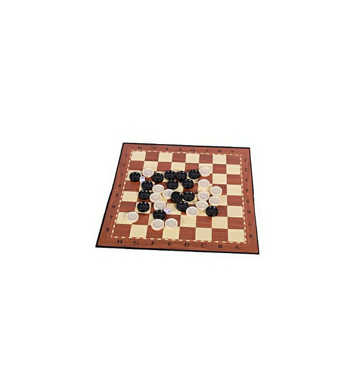 Brown Draughts/Checkers Board Games