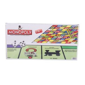 2 in 1 Monopoly And Snakes & Ladders Board Game