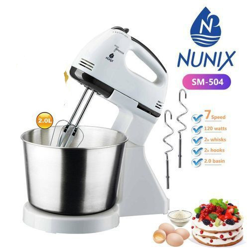 Nunix Hand Mixer-Stand with Bowl