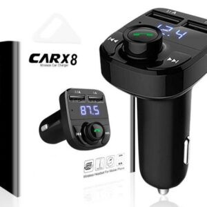X8 Wireless FM Radio And Bluetooth Car Modulator with charger