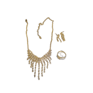 Classy Necklace, Earrings And Ring Set
