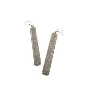 Long Classy Golden Drop Earrings