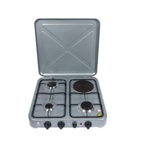 Nunix 4 Burner Table Top Gas Cooker Stove With Electric Hot Plate
