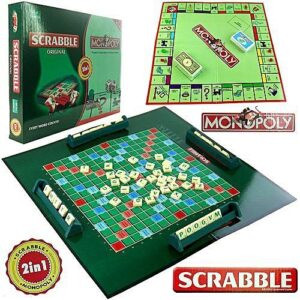 2 in 1 Scrabble and Monopoly Board Game